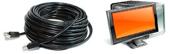 Управление светодиодным экраном LAN-кабель до 50 метров