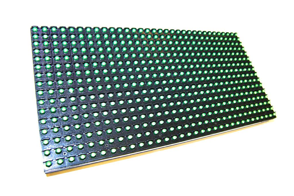 Монохромный модуль P10 красный для бегущей строки