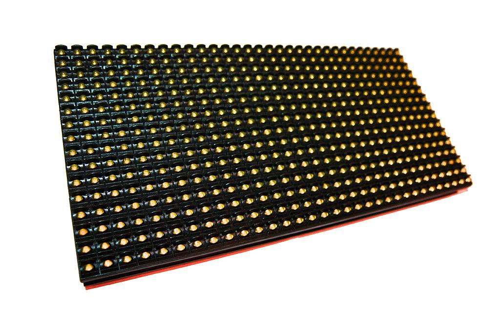 Монохромный модуль P10 желтый для бегущей строки